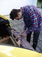 Reserveradmuldenausbau Ibiza 6L - Laminierung - Abkleben 8