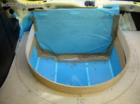 Reserveradmuldenausbau Ibiza 6L - Laminierung V2 - Grundform 14