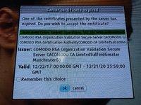 Zertifikatsfehler DMR-BST720