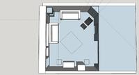 Wohnzimmer Aufsicht