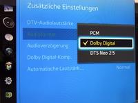 Toneinstellungen - Dolby Digital