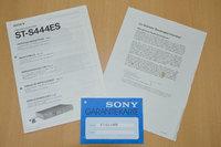 Sony Tuner ST-S444ES Originaldokumente
