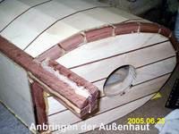 Viele einzelnen Holzteile