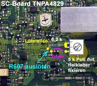 R607 - SC-Board TNPA4829 Modifizierung
