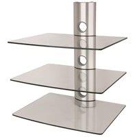 Hifi möbel wandmontage  Glasrack zur Wandmontage mit 20kg Traglast/Boden, Racks, Lowboards ...