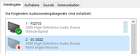 Windows Sound Einstellungen
