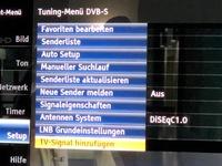 Tuning Menü DVB-S