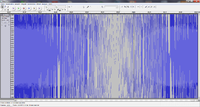 Spektrogram Sinus-Sweep 10-80kHz, 30Sekunden, t=29,25-29,85