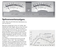Aiwa Doppel-VU-Meter