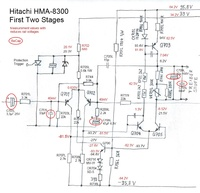 HMA-8300 circuit first stages ReCap Capacitor Replacement