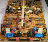 HMA-8300 Main PCB Capacitor Replacement - AFTER ReCap marked
