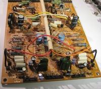 HMA-8300 Main PCB Capacitor Replacement - BEFORE ReCap marked