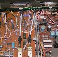 Yamaha CR-640 - Location of tone amp on PCB