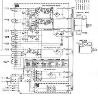 Yamaha PC2002M Power Amp Schematic of power supply DC Board