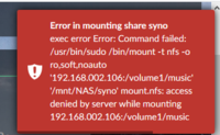 access denied zu NAS