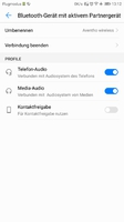 Aventho Bluetooth-Verbindung, MIY falsche Einmess-Einstellung
