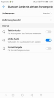 Aventho Bluetooth-Verbindung, MIY richtige Einmess-Einstellung