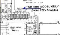 NBW model extra fuse