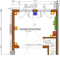 Wohnzimmer-Grundriss