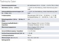Technische Daten Rotel RA 1062