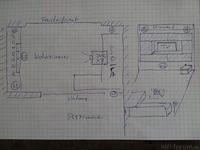 Skizze Wohnzimmer