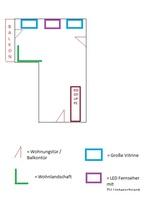 Wohnzimmer - ca. 30 Quadratmeter Groß