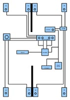Schaltplan 8 Boxen