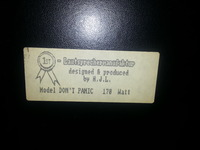 Sticker auf der Rückseite
