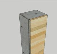 Gehäuse mit Holzfront 4cm