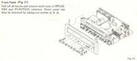Pioneer SX750 remove front