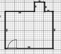 Ansicht Wohnzimmer aus allen 4 Ecken inkl. Grundriss