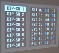 Epson TW6700 Dip-Switch-Bildschirm 1