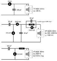 Schaltplan Frequenzweiche JBL LX800