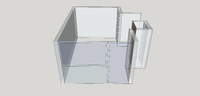 Arbeitszimmer - Grundriss in SketchUp