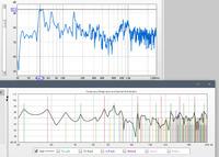 Roomsim vs. measured fr