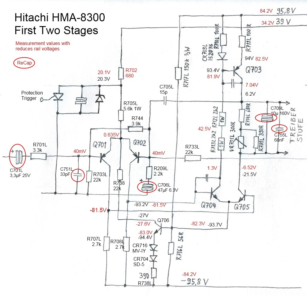 Hma 8300 Circuit First Stages Recap Capacitor Replacement Capacitorcircuit